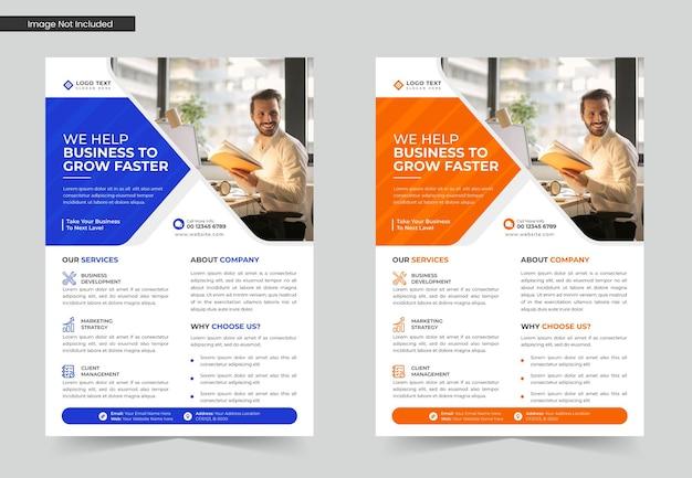 Sjabloonontwerp voor creatieve zakelijke flyers