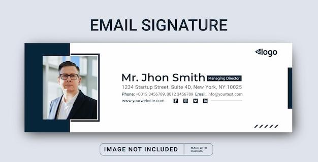 Sjabloonontwerp voor e-mailhandtekening of e-mailvoettekst en persoonlijke omslag voor sociale media