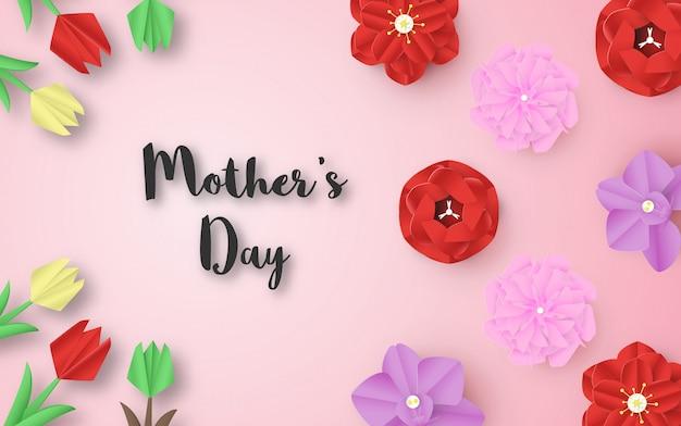 Sjabloonontwerp voor gelukkige moederdag.