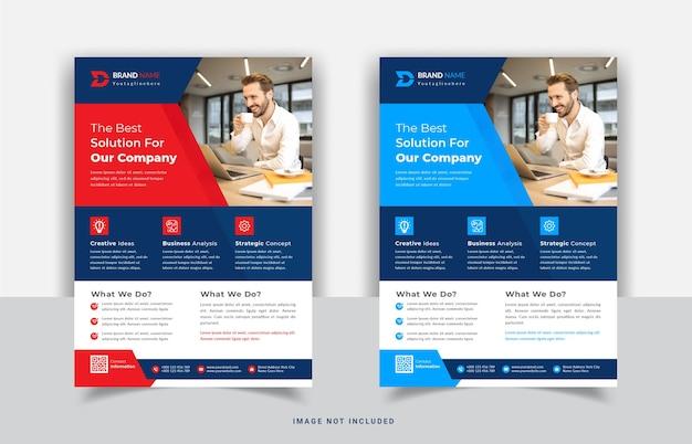 Sjabloonontwerp voor moderne zakelijke flyers