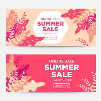 Sjabloonontwerp voor online verkoop zomerbanner