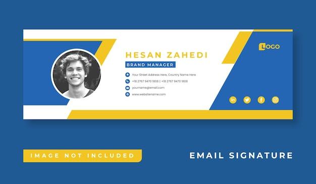 Sjabloonontwerp voor persoonlijke zakelijke e-mailhandtekeningen