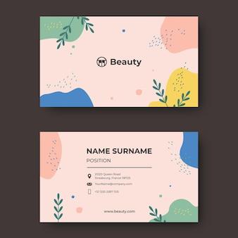 Sjabloonontwerp voor schoonheidssalon visitekaartjes
