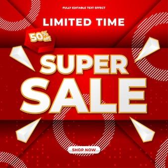 Sjabloonontwerp voor super sale-banner