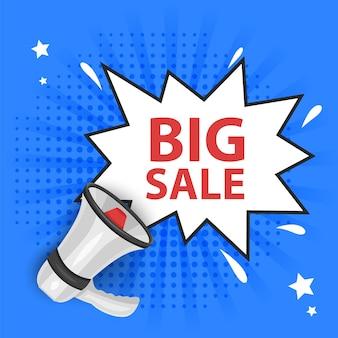 Sjabloonontwerp voor verkoopbanner grote verkoop speciale aanbieding