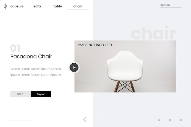 Sjabloonpagina web promotionele suite thuis