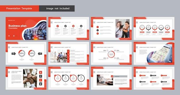 Sjabloonpresentatie en pagina-indeling voor brochure
