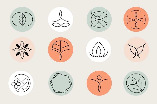 Sjabloonset met logo voor zorgcentrum