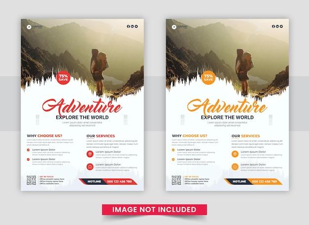 Sjabloonset voor reisverkoop flyer