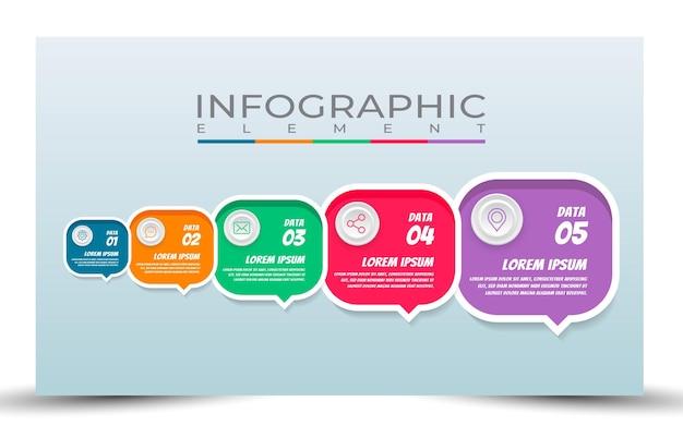 Sjabloonstijl infographic elementen verwerken