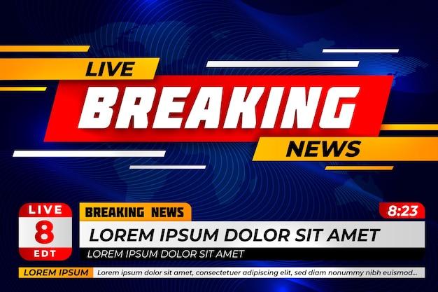 Sjabloonstijl live breaking news