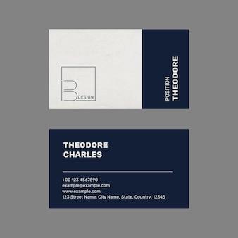 Sjabloonvector voor getextureerde visitekaartjes met minimaal logo-ontwerp