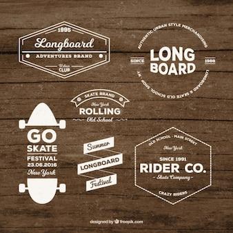 Skate badge set