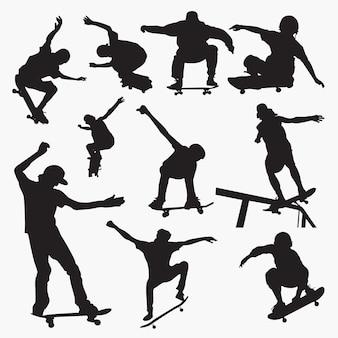 Skate board 1 silhouetten