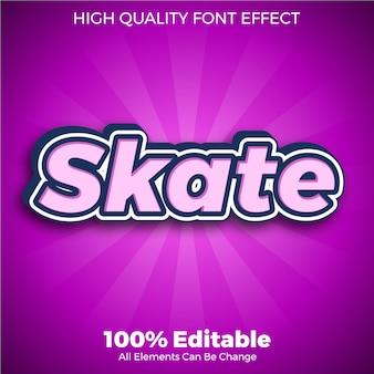 Skate stickers tekststijl bewerkbaar lettertype effect