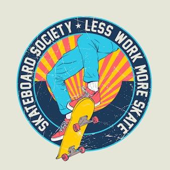Skateboard afbeelding ontwerp