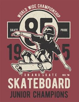 Skateboard junior champions