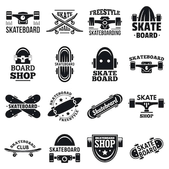 Skateboard logo-set