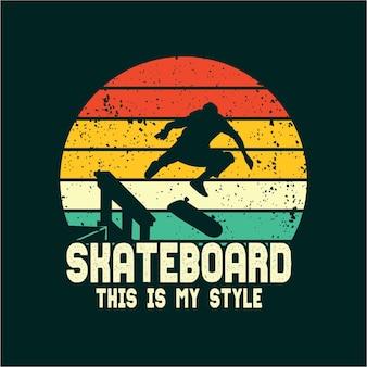 Skateboard silhouet