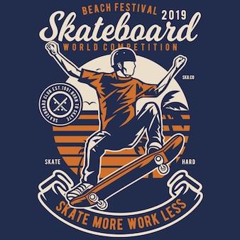 Skateboard-strand