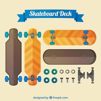 Skateboards en tandwielen