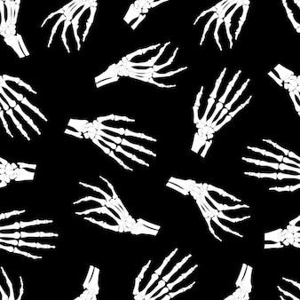 Skelet hand naadloos patroon