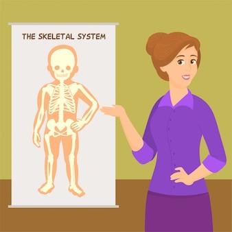 Skelet systeem van jongen