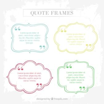 Sketches citaat geplaatste frames