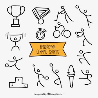 Sketches olympische sporten
