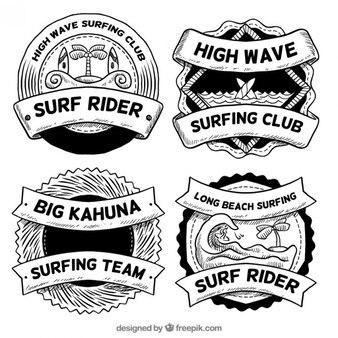 Sketches surf badges