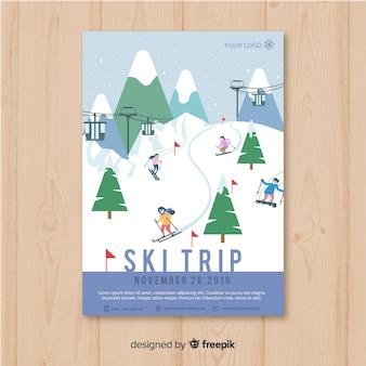 Ski-reisbanner