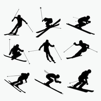 Ski silhouet