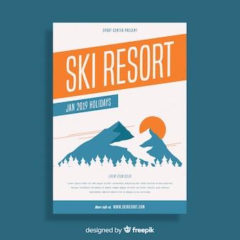 Ski trip flyer sjabloon