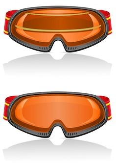 Skibeschermende brillen vectorillustratie
