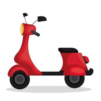 Skooter motorfiets geïsoleerde pictogram