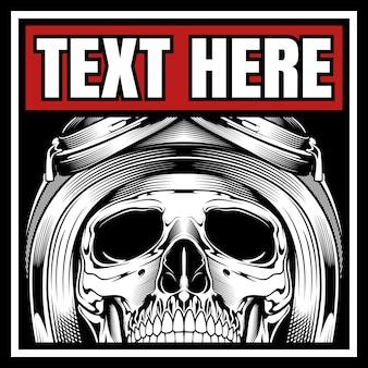 Skull biker helm dragen