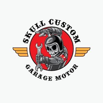 Skull biker monteur
