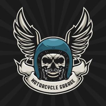 Skull biker