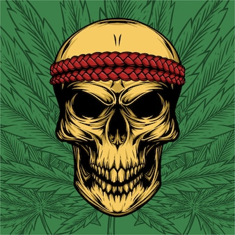 Skull braid hoofdband
