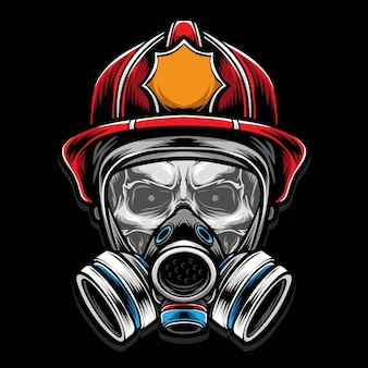 Skull brandweerman