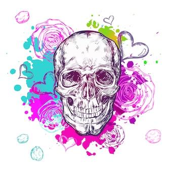 Skull cow boho samenstelling