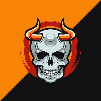 Skull demon logo