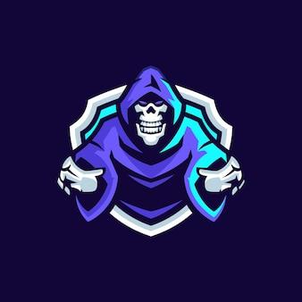 Skull esports logo-sjablonen