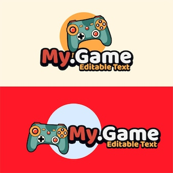 Skull gaming met joystick-embleem moderne stijl