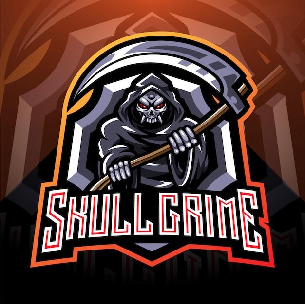 Skull grime esport mascotte logo