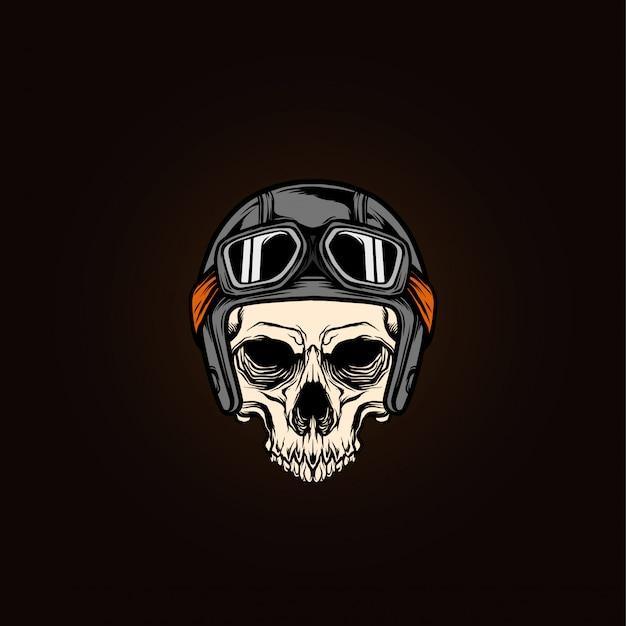 Skull head rider