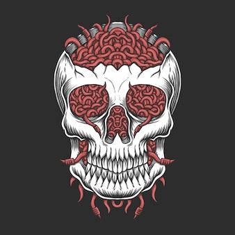 Skull hoofd worm