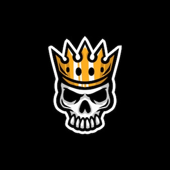 Skull king mascotte logo esport gaming