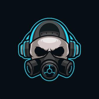 Skull mascotte esport logo