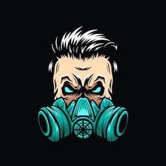 Skull mask logo
